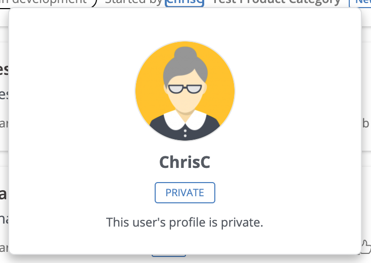 Private User Card Example